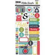 Echo Park My Life Mini Theme 6x12 Scrapbook Sticker Embellishment