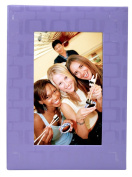 MCS MBI Embossed Fabric 36 Pocket Photo Album, Purple