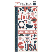 Echo Park Mini Themes Independence Day 6x12 Sticker Sheet