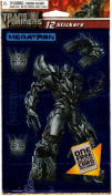 Transformers Revenge of the Fallen Megatron Foil Scrapbook Stickers