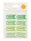 Studio Calico Essentials Green Paper Clip Flag Scrapbook Embellishments