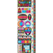 Signature Series 2012 Cardstock Combo Stickers 11cm x 30cm -Happy Birthday