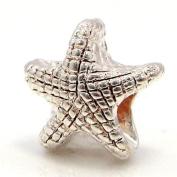 "Jewellery Monster Amber ""Starfish"" Charm Bead for Snake Chain Charm Bracelet"