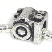 "Jewellery Monster Antique Finish ""Camera"" Charm Bead for Snake Chain Charm Bracelet"
