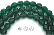 Choose a Size, Green Zircon, Czech Fire Polished Round Faceted Glass Beads, 41cm strand