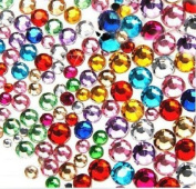 LOVEKITTY TM Mixed Colours Mixed Sizes 20g (sold by weight)Flat Back High Quality Rhinestones Assorted Colours & sizes