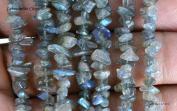 Blue Flash, Labradorite, Natural Gemstone Chip Beads 90cm , Full Strand.