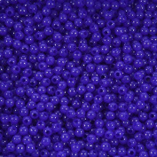 6mm Plastic Round Fishing Beads - Royal Blue Opaque