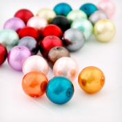 1 pouch Assorted Mix Glass Pearl Spacer Round Loose Beads Fit Necklace Bracelets Wholesale 10x10x10mm 150pcs GP0244