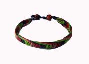 Asian Hippie Wristband Green Red Reggea Line Thai Bracelet Vintage Style Fashion
