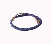 Asian Hippie Wristband Purple Grey Reggea Line Thai Bracelet Vintage Style Fashion