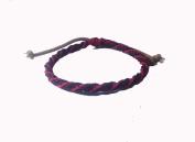Asian Hippie Wristband Black Red Reggea Line Thai Bracelet Vintage Style Fashion