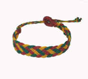 Asian Hippie Wristband Red-green-yellow Reggea Line Thai Bracelet Vintage Style Fashion