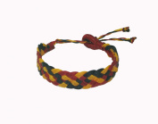 Asian Hippie Wristband Red-black-yellow Reggea Line Thai Bracelet Vintage Style Fashion