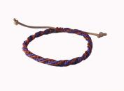 Asian Hippie Wristband Purple Red Reggea Line Thai Bracelet Vintage Style Fashion