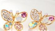 Fashion Full Rinestone Bowknot Earring Butterfly Earrings