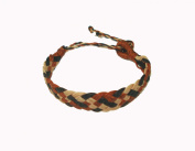 Asian Hippie Wristband Brown-white-black Reggea Line Thai Bracelet Vintage Style Fashion