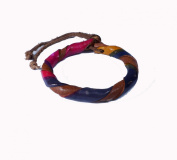 Asian Hippie Wristband Brown Blue Pink Reggea Leather Thai Bracelet Vintage Style Fashion