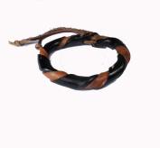 Asian Hippie Wristband Brown Black Reggea Leather Thai Bracelet Vintage Style Fashion