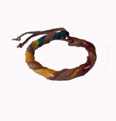 Asian Hippie Wristband Green Yellow Reggea Leather Thai Bracelet Vintage Style Fashion