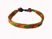 Asian Hippie Wristband Green Orange Reggea Line Thai Bracelet Vintage Style Fashion