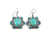 Heart Shaped Turquoise Earrings