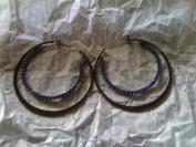 Avon Sparkling Rainbow Hoop Earrings BLUE