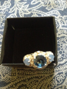 Avon Legacy Riches Ring Blue Size 9