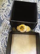 Avon Legacy Riches Ring Yellow Size 6