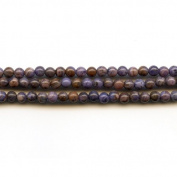 Purple Crazy Lace Agate 4mm Round Beads 8 Inch Strand