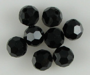 8 8mm. crystal round 5000 Jet beads