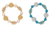 Chunky Stretch Bracelets - Blue - By Ganz