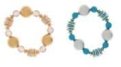 Chunky Stretch Bracelets - Blue - By Ganz