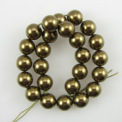 25 8mm. crystal pearl 5810 Antique Brass beads