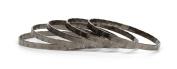 Jadore Bijoux Bracelet -5pcs Cross Design GunMetal Overlay Bangles