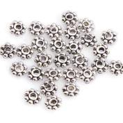 ILOVEDIY 300pcs Daisy Tibetan Silver 6mm Spacer Beads for Bracelets Jewellery Making