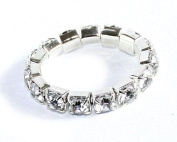 fashion jewellery pave rhinestone elastic design rings for girl