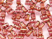 Czech Glass Two-Hole Seed Beads RULLA 3x5mm 20gram lustre RED