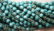 25 Turquoise Howlite Skull Beads (Loose) - Day of the Dead (Dia De Los Muertos) - Goth