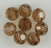 8 8mm. crystal round 5000 Lt Smoked Topaz