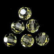 6 10mm. crystal round 5000 Jonquil