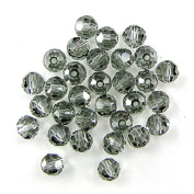 10 6mm. crystal round 5000 Black diamond
