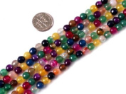 "6mm Round Faceted Mixed Colour Agate Beads Strand 15"" Jewellery Making Beads"