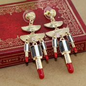 Fashion. Delicate Individual Alloy Rhinestones Sexy Lipstick Drop Earring