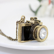 New Arrival. Individual Rhinestone Vintage Camera Pendant Necklace