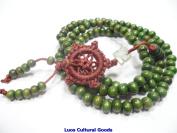 108 Dark Green Sandalwood Tibet Buddhist Prayer Mala Necklace or bracelet- n015