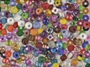Seed Beads Czech size 6/0 Colourful Glass Seed Bead Mix