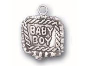 Sterling Silver Baby Boy / Baby Girl Blanket Blankie Charm
