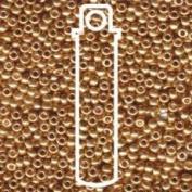 Miyuki Round Seed Bead Size 8/0 22g-tube Galvanised Gold