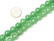 Round Green Jade Aventurine Beads Strand 38cm Jewellery Making Beads